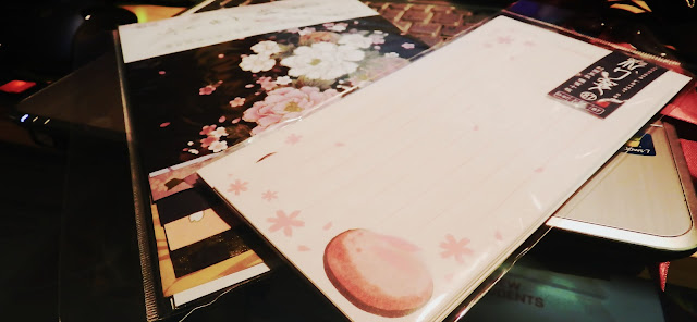 japanese letter writing, origami paper