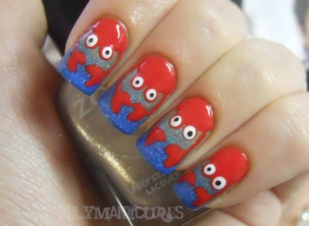 holy manicures beachy crab nails