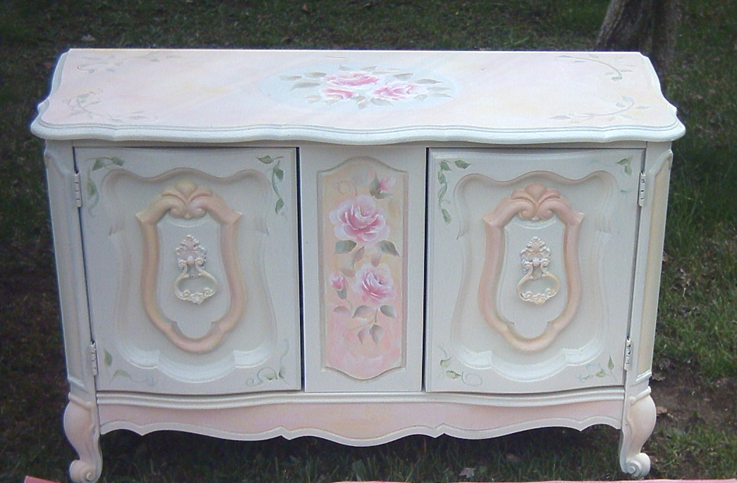 Shabby Chic Colors For Furniture : Collage sheet girl how to paint a shabby chic rose video lesson