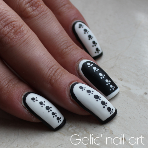 Gelic Nail Art 2015 31dc2015 Day 7 Bw Cartoon Inspired Black