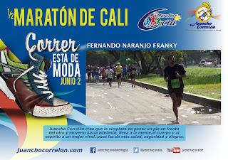 Póster de Fernando Naranjo Franky en la Media Maratón de Cali 2013