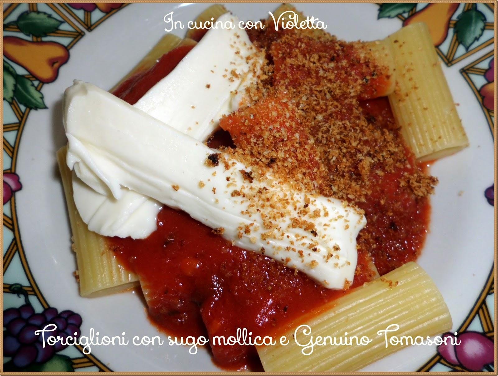 torciglioni con sugo mollica e genuino tomasoni