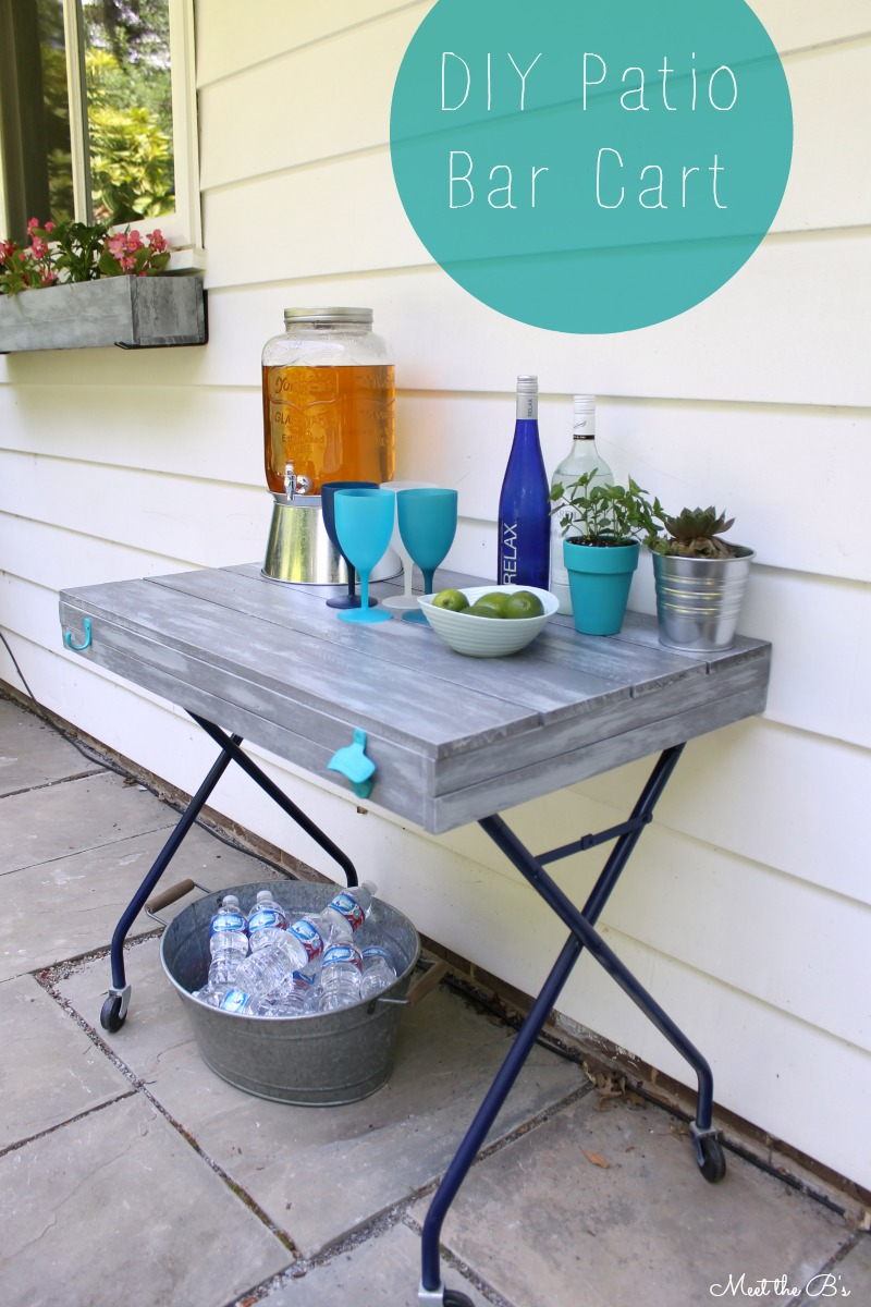 DIY Patio Bar Cart| Meet The Bu0027s