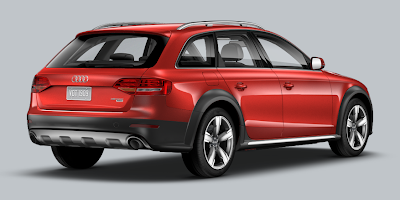 2013 Audi A4 allroad volcano red