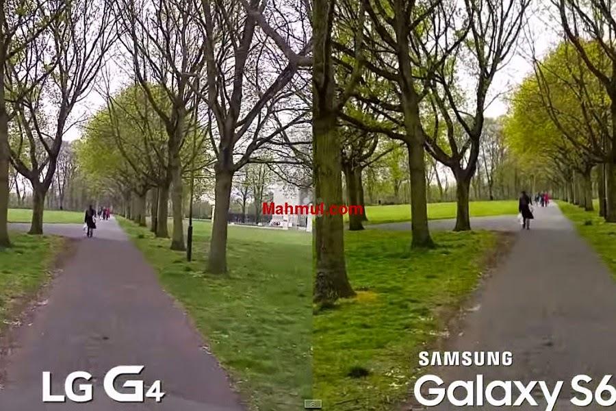 مقارنة بين كاميرا جلاكسي S6 و LG G4