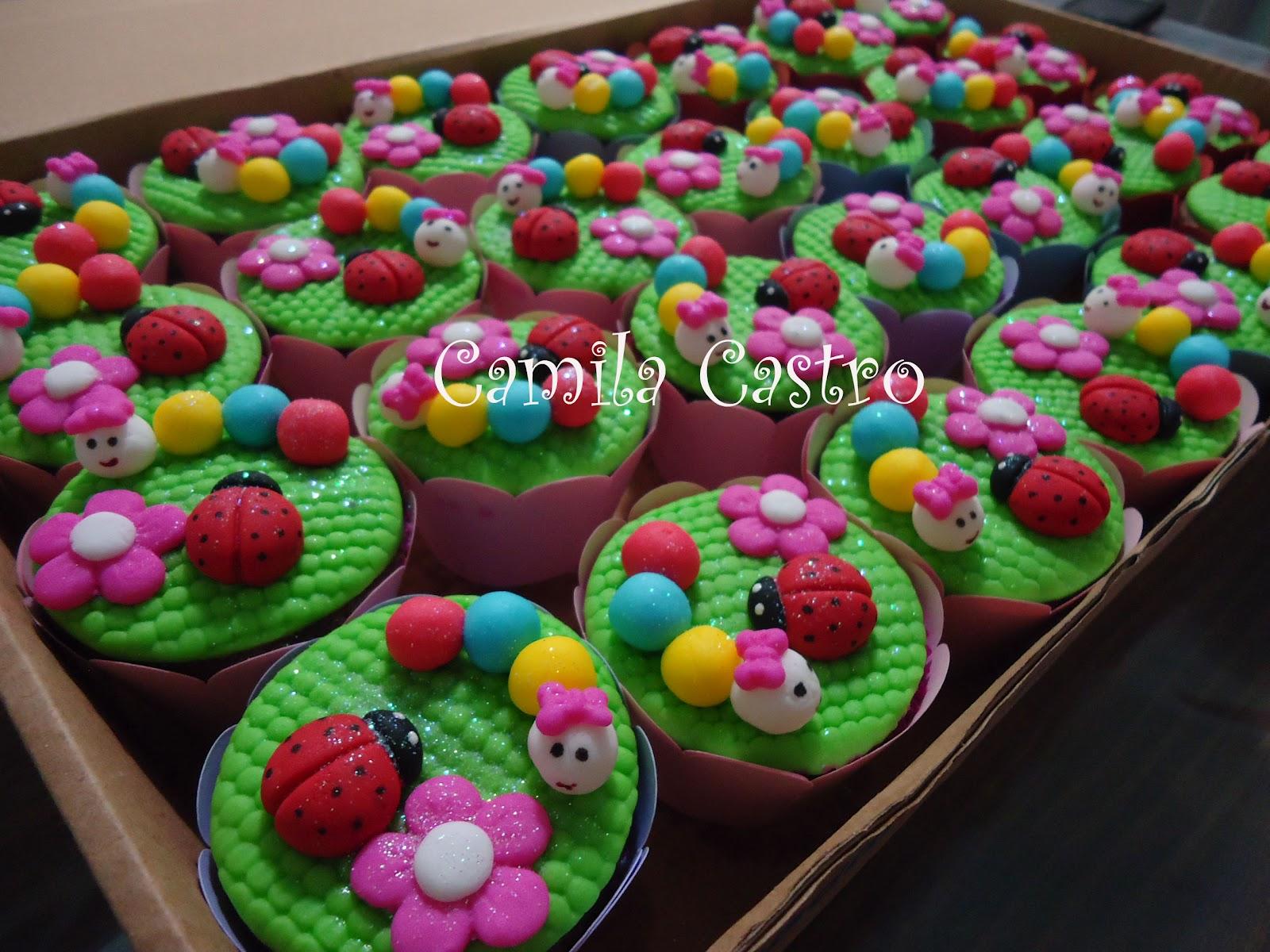 decoracao de bolo tema jardim encantado : decoracao de bolo tema jardim encantado:Camila Castro Bolos Decorados: Cupcakes Jardim Encantado