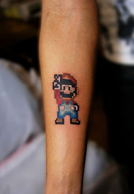 Mario Tattoo Design