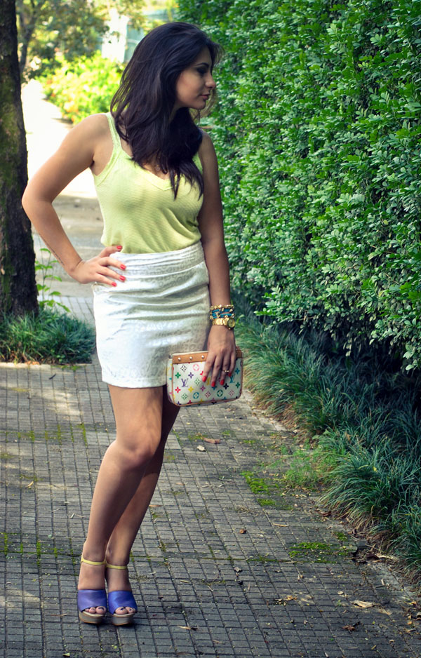 Look casual colorido - tendência candy colors