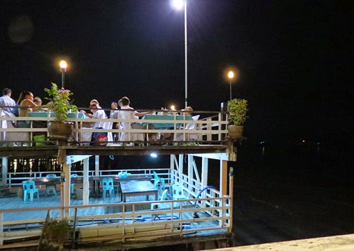 Open air seafood restaurant