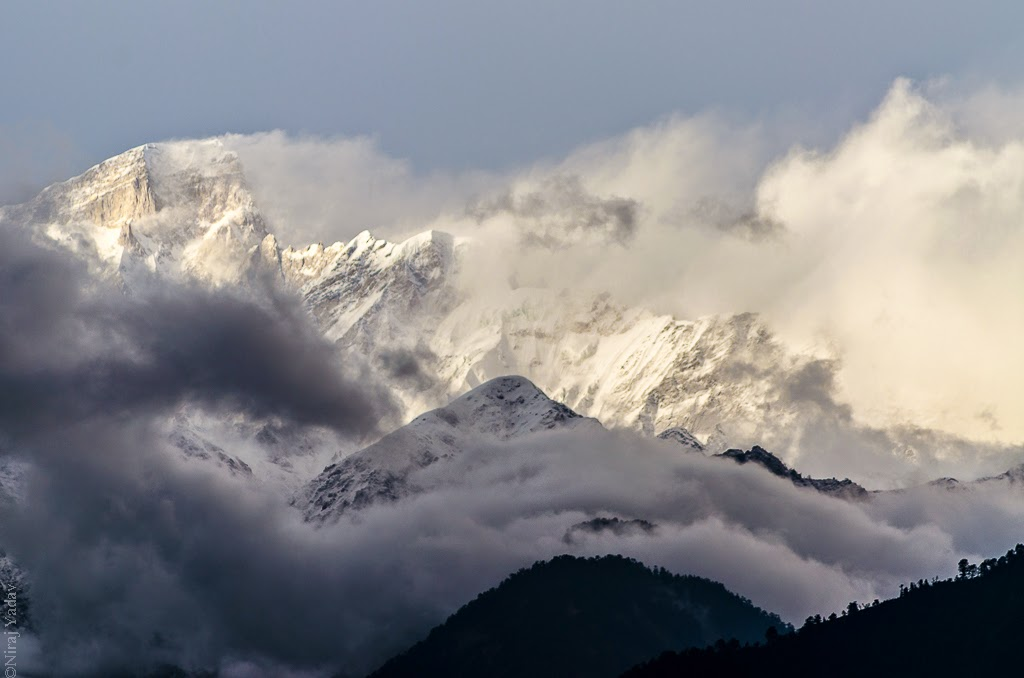 snowfall in chopta, chopta peaks