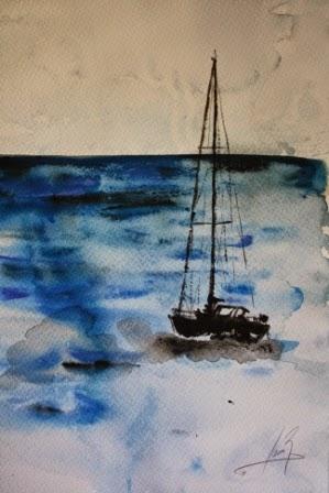 El Mar. Acuarela 2013. 42x29cm