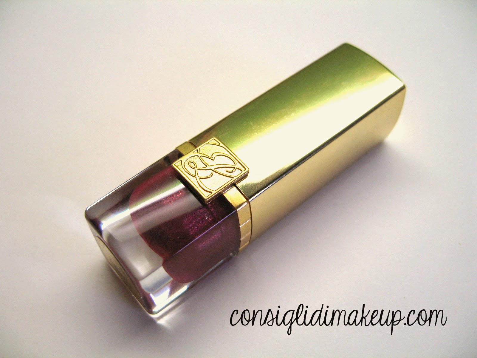 Review: Estée Lauder - Rossetto Pure Color Vivid Shine Metal Effect 06 Mirrored Orchid
