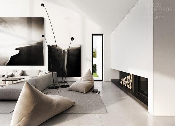 Propre Moderne Noir Et Blanc Décor