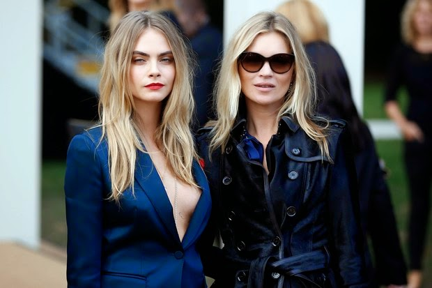 Cara Delevingne and Kate Moss steals the scene in front of parade