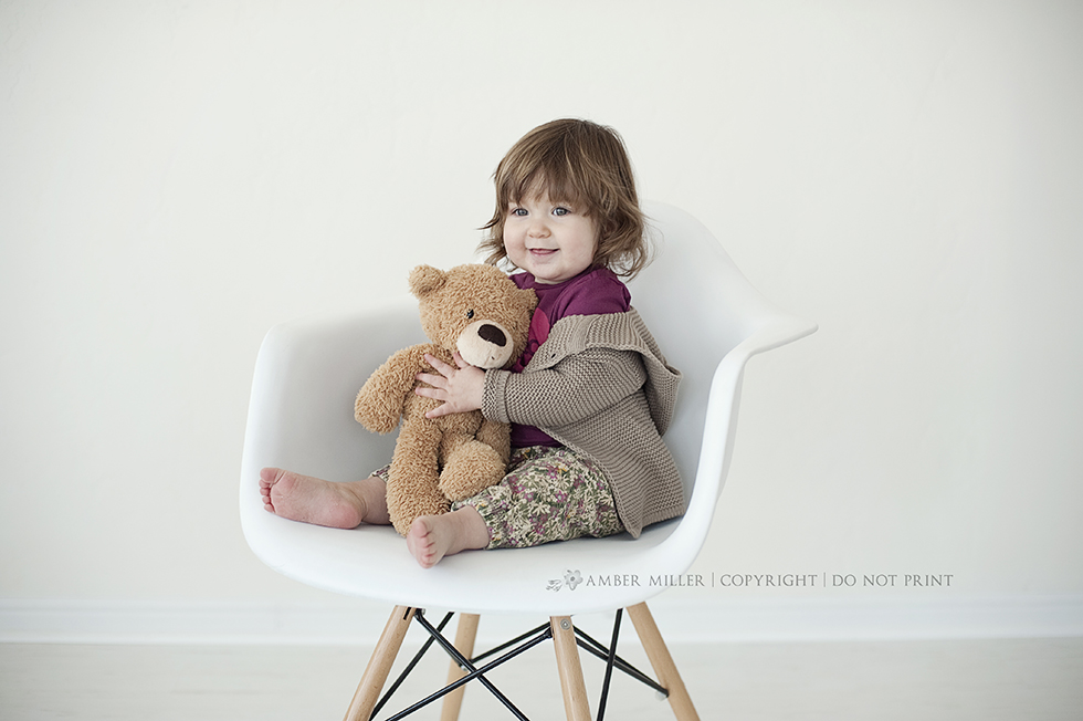 family photography, baby girl, infant photographer, baby and teddy bear