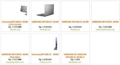 harga ultrabook terbaru NP530U3C-A03ID