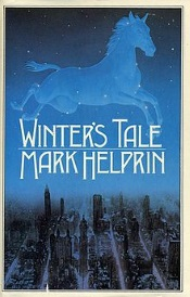 Cover of Winter's Tale, featuring a ghostly horse flying over the title while New York stretches out in all its wintery glory far below.
