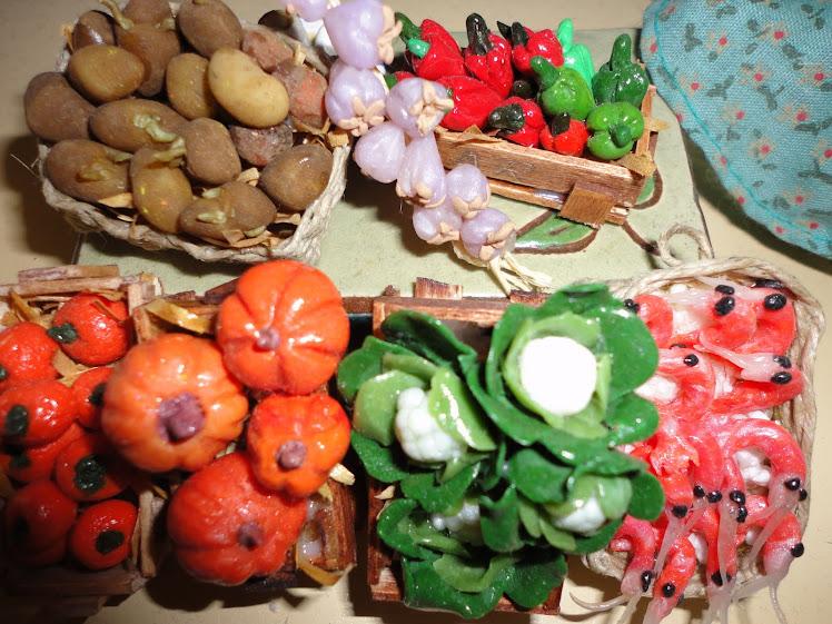 verduras de fimo