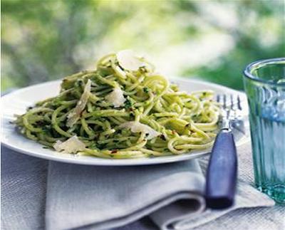 spaghetti con pesto di avocado ricetta