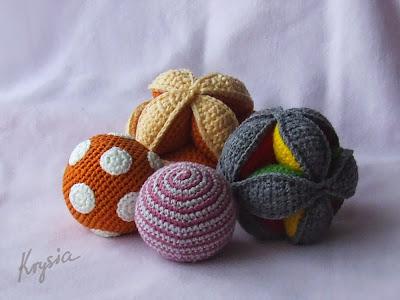 szydełkowe piłki amigurumi puzzle ball