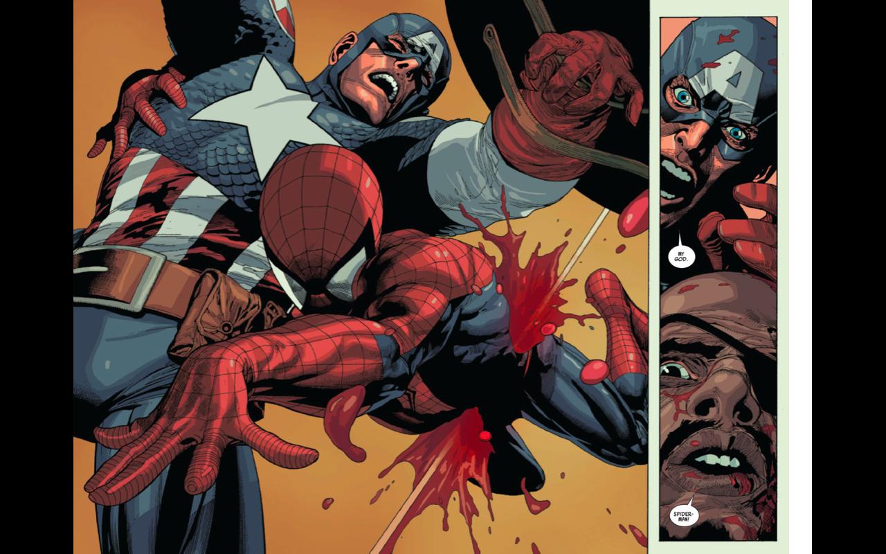 KOMIX 101: The Death of Spider-Man art by Leinil Yu