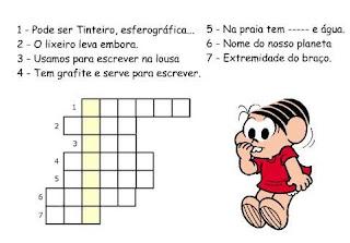 Atividades Alfabetização - Cruzadinhas da Turma da Mônica 5