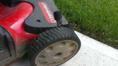 Grass Pad recommends raising mower height during high heat conditions.