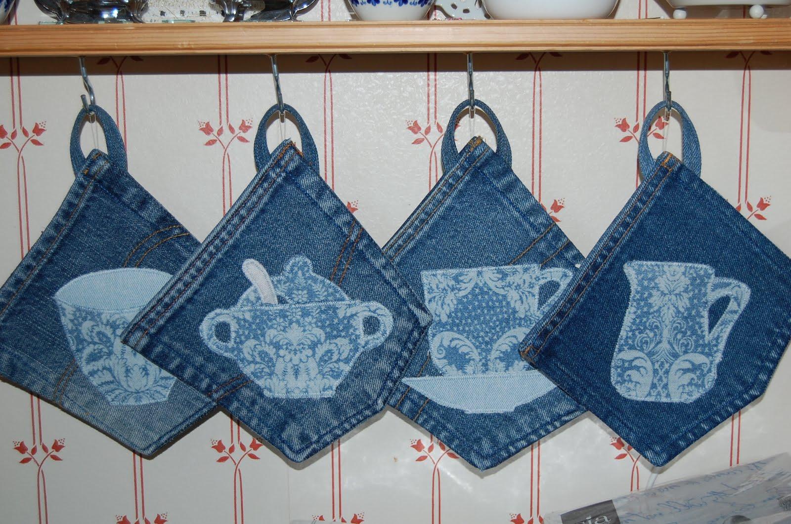 Upcycled denim blue jeans jeans terbruk denim crafts for Old denim
