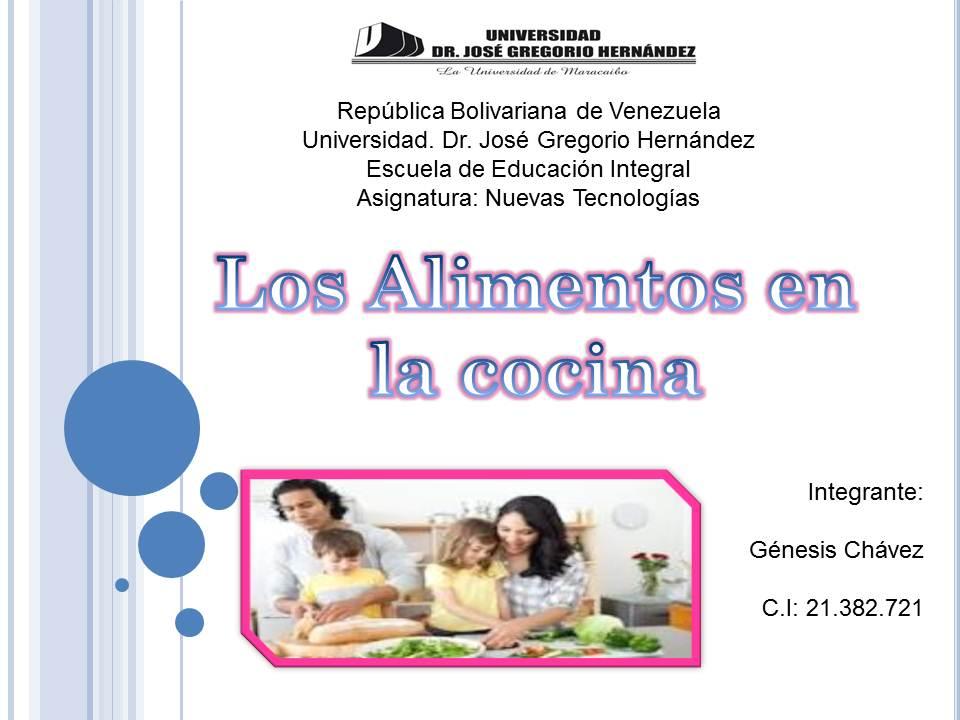 Los alimentos en la cocina diapositivas for La cocina de los alimentos pdf