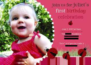 cute birthday invitation
