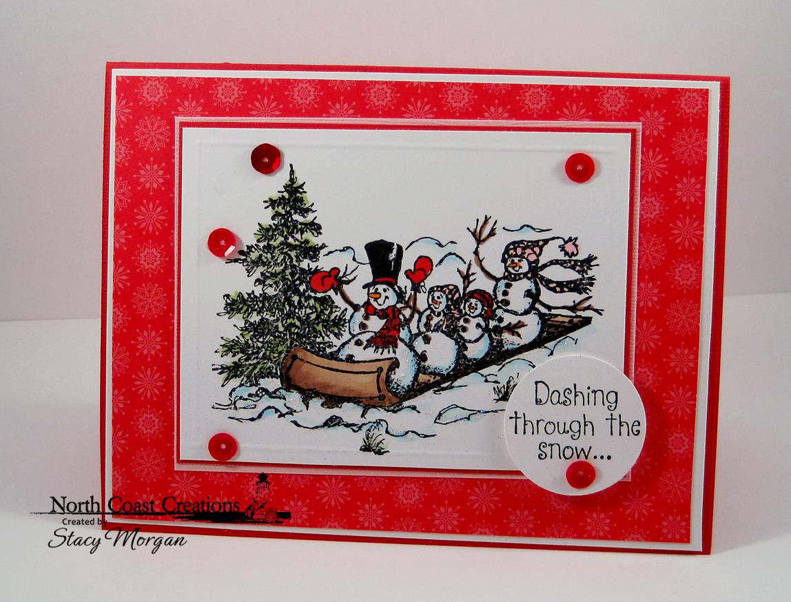 Stamps - North Coast Creations Snowman Family