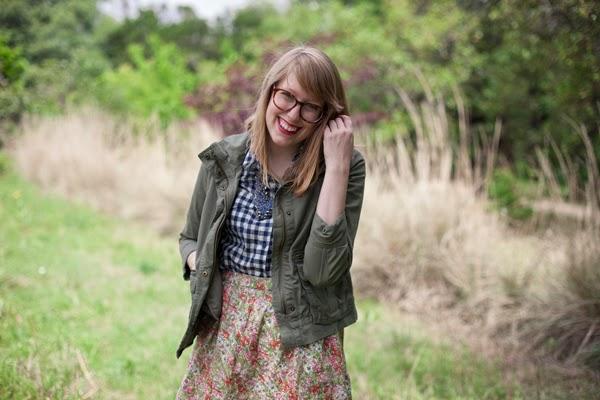 gingham, floral, utility jacket
