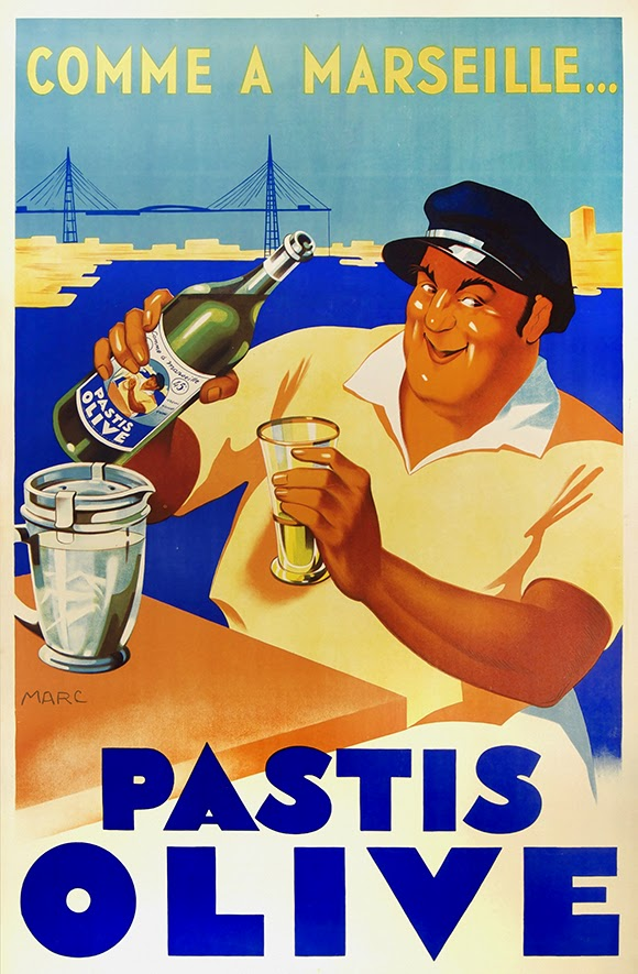 advertising, classic posters, food, free download, free posters, free printable, french poster, graphic design, printables, retro prints, vintage, vintage posters, vintage printables, Pastis Olive - Vintage Wine Poster