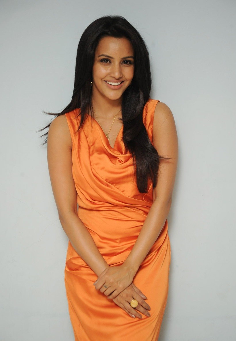 Priya Anand Photos in Orange Dress