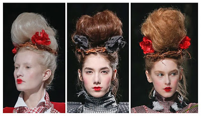 Thom Browne Fall 2013 Red Lips and Roses