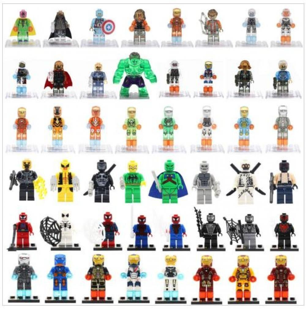 48pcs Marvel SuperHero Minifigures Captain America Batman Deadpool X-men Iron Man Building Blocks B