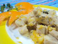 Pierś z kurczaka w pomarańczach i rozmarynie