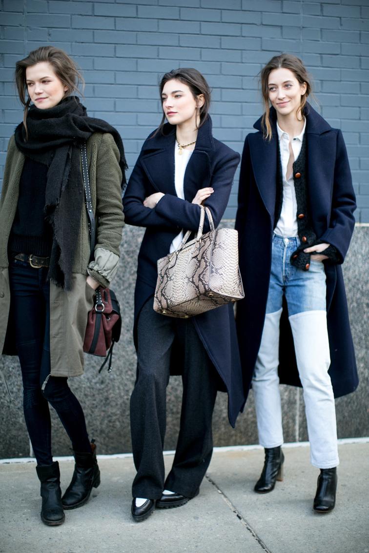 Kasia Struss, Jacqelyn Jablonski, Alana Zimmer, models off duty, street style