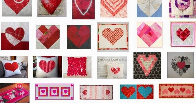 Quilt Inspiration: Free Pattern Day: Hearts and Valentines Part 1