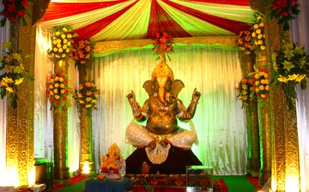 Bhagwan Ji Help Me Ganpati Decoration Ideas Ganesh Decoration Photos Videos