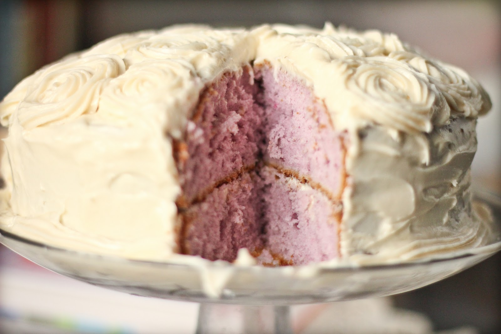 Taro Cake With Cream Cheese Frosting Adventures In Cooking