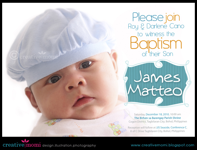 Creative mommy christening invitation backdrop christening invitation backdrop stopboris Images