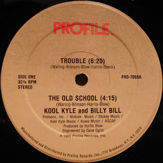 Kool Kyle and Billy Bill - Trouble.The Old School (Vinyl, 12'' 1985)(Profile Records)