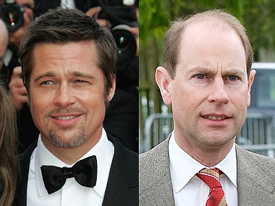 Brad Pitt and Prince Edward Which celebrity is the youngest?