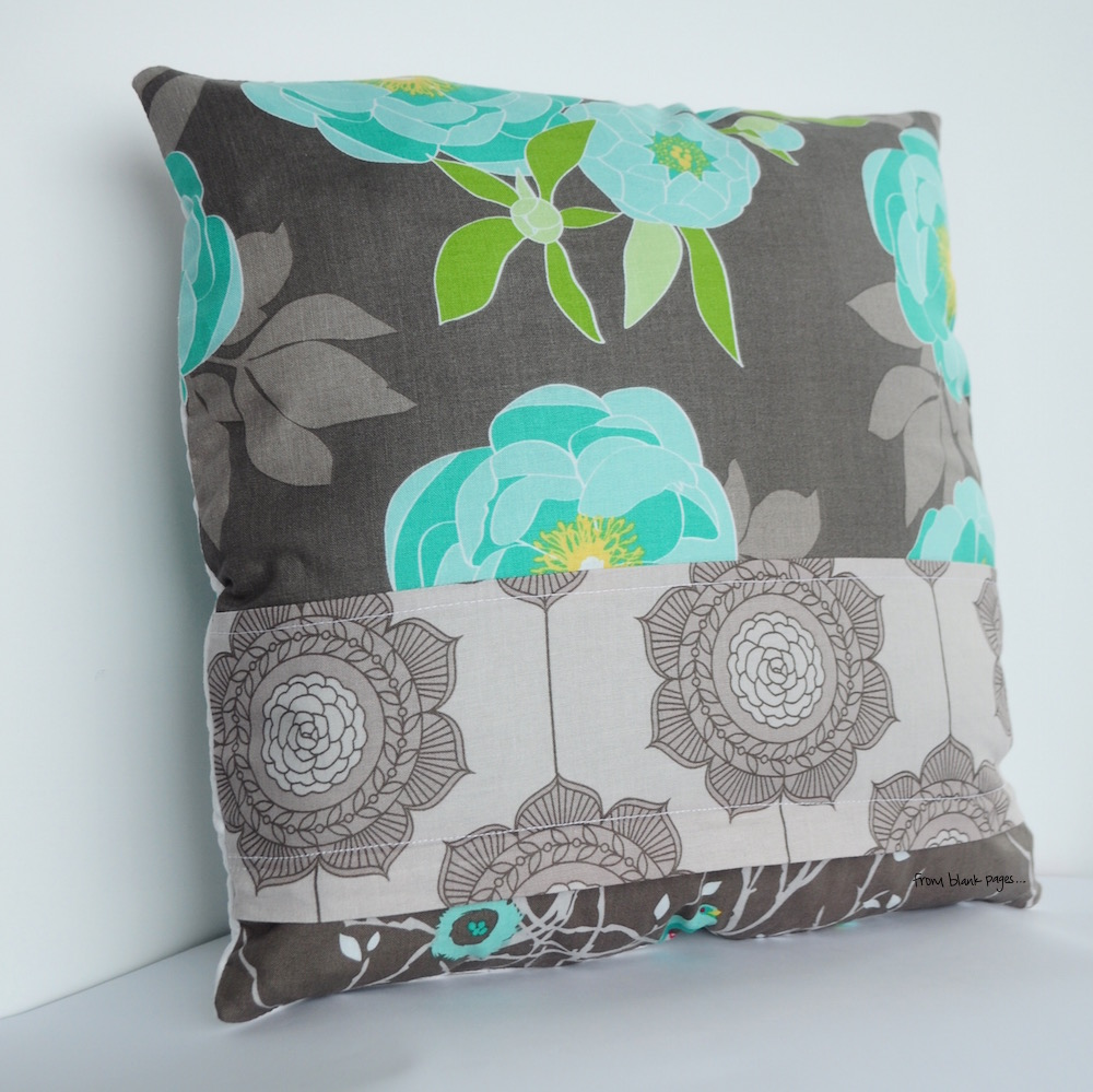 from blank pages...: Tutorial: Decorative Pillow Case with Hidden Zipper