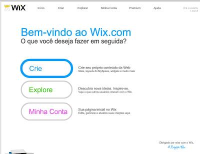 Wix Bem Vindo