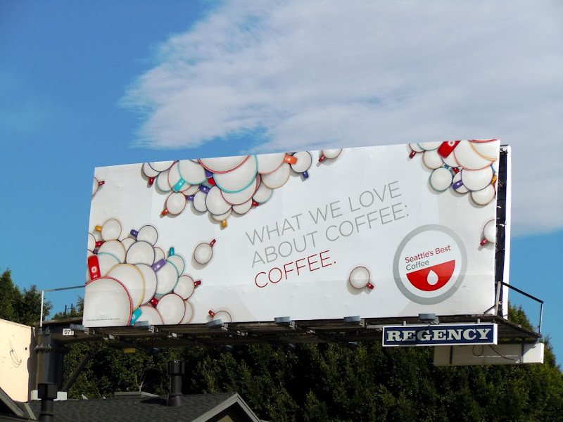 Seattle's best coffee billboard