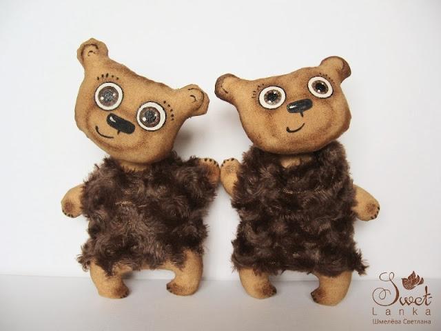 кофейно-коричные медведи