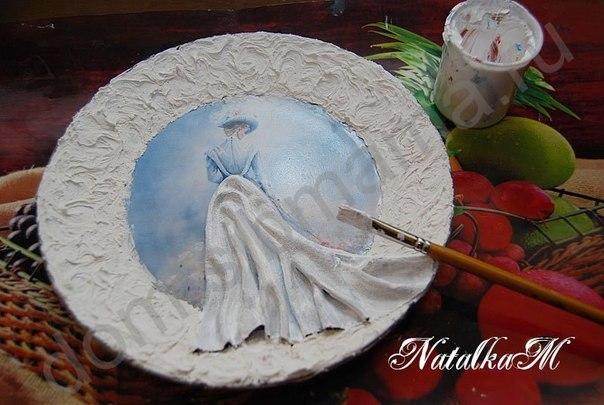 Фото на тарелке своими руками