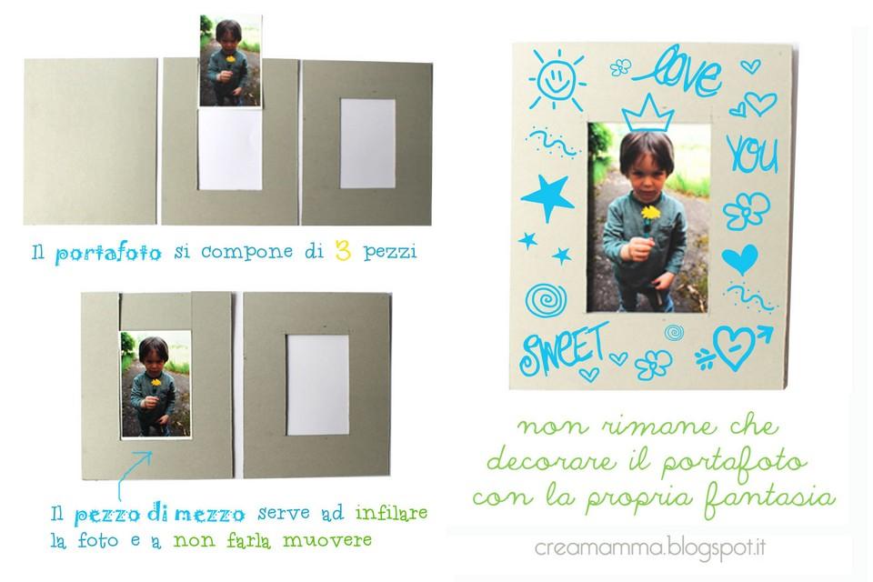 Diario di una creamamma portafoto fai da te decorato con for Una cornice a casa libera
